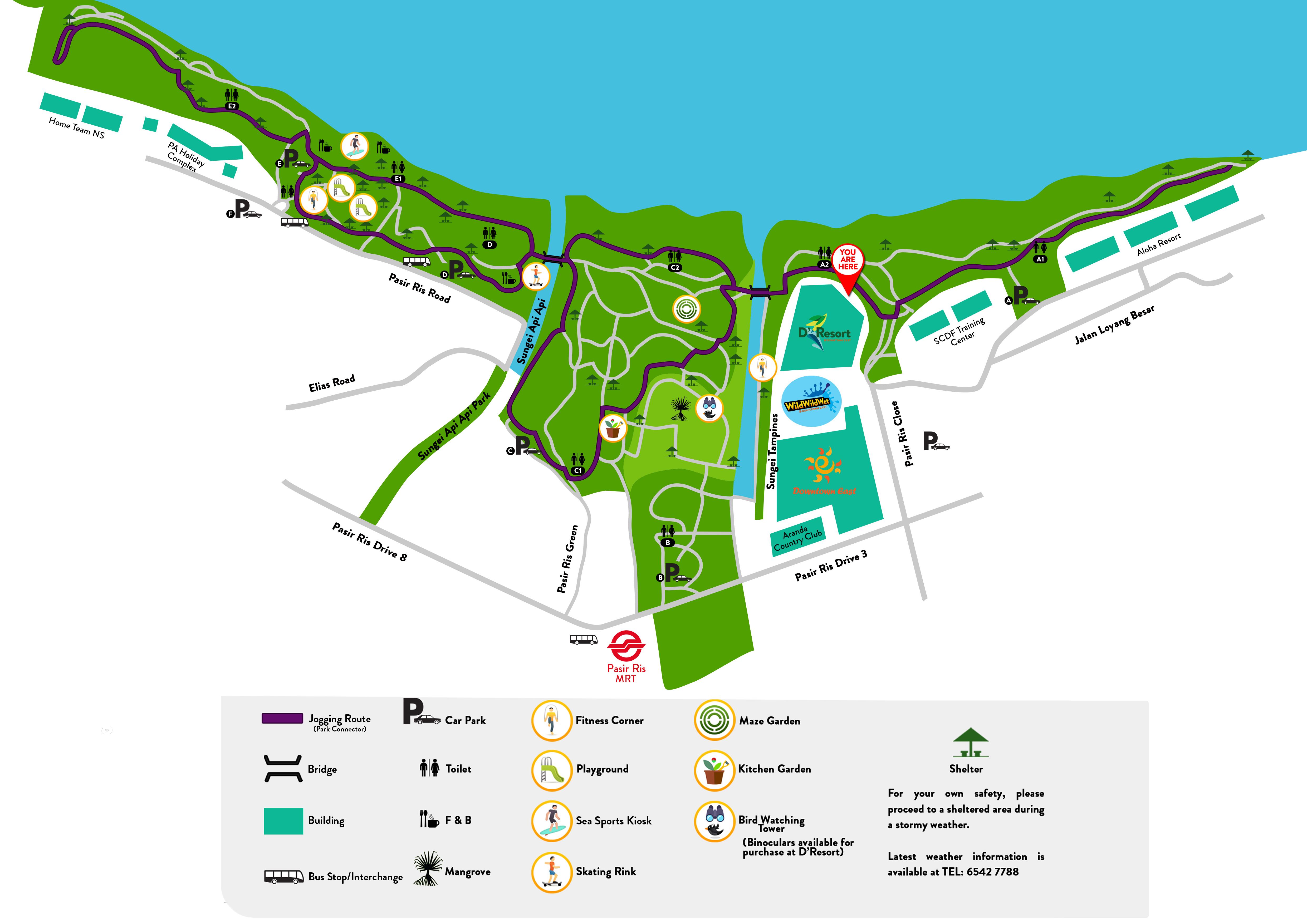 Pasir Ris Park map 2.9.16